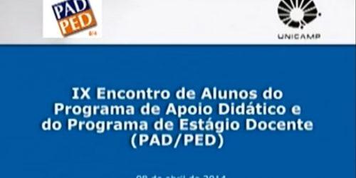 9º Encontro PAD/PED